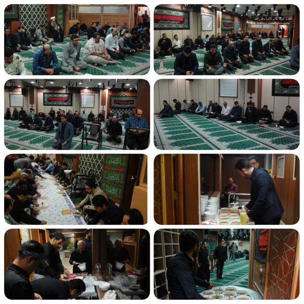 حضور پرشور کارکنان منطقه9 در مراسم زیارت عاشورا