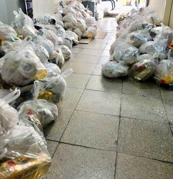 توزیع۶۰۰بسته حمایتی و ۲۵۰۰پرس غذای غذای گرم در منطقه۹