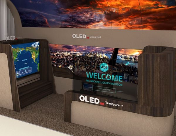 رونمایی LG Display از پیشرفتهترین نمایشگرهای ویژه هواپیما و اتومبیل