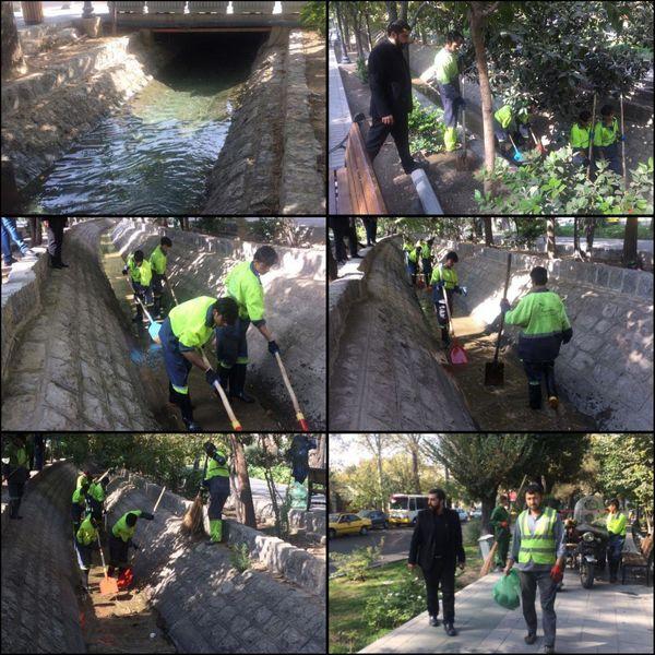 اجرای طرح ویژه نگهداشت شهر در بلوار کشاورز