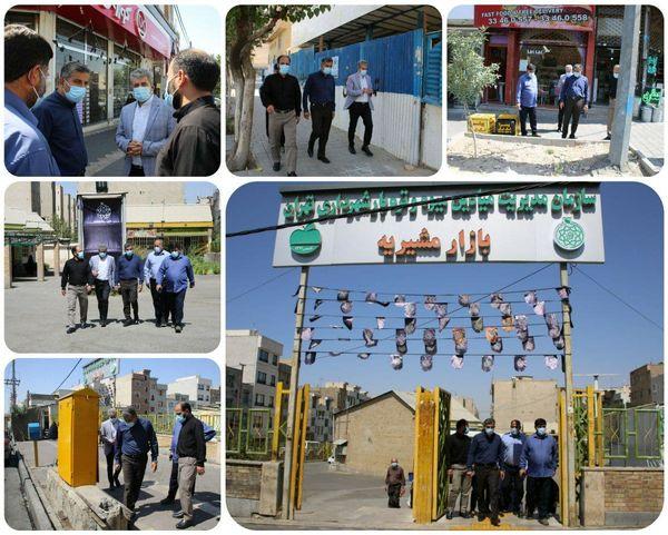 بازدید شهردار منطقه ۱۵ از نگهداشت شهر