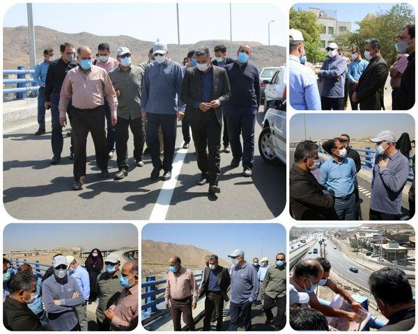 بازدید معاون فنی و عمران شهرداری تهران پل ثامن در منطقه ۱۵