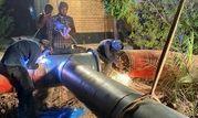 عملیات موفقیت آمیز فجر در ایجاد انشعاب از خطوط آب آتش نشانی