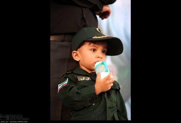 فرزند شهید حججی در مراسم سالگرد این شهید+عکس