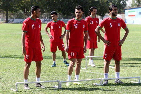 آخرین تمرین تیم امید در تهران