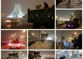 هم زمان با آغاز بارش برف معابر و شریان های اصلی #منطقه۹ شن پاشی و نمک پاشی شد