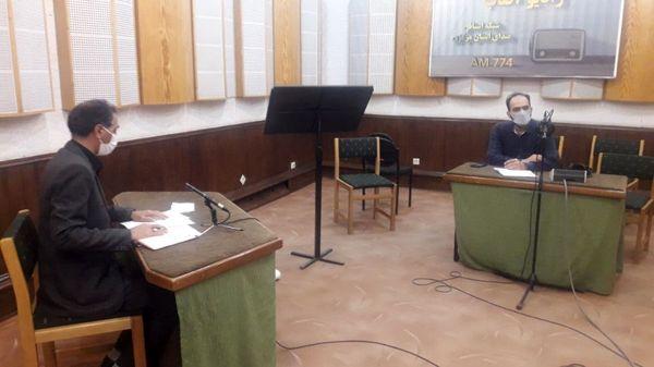 سر پرست مخابرات منطقه مرکزی در برنامه نشست هفته رادیو اراک حضور یافت