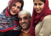 لوس شدن علی ضیا در آغوش مادرش+عکس