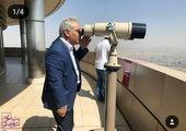مهران مدیری در بالاترین قسمت برج میلاد + عکس