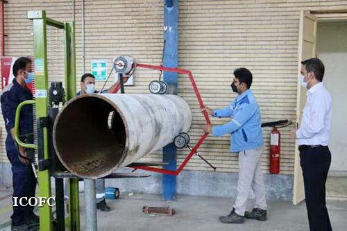 ساخت دستگاه نوار پیچ خطوط لوله توسط متخصصان صنعت نفت در زاگرس جنوبی