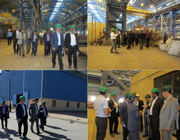 بازدید اعضای هیات سرپرستی مؤسسه اعتباری نور از شرکت فولاد کویر دامغان
