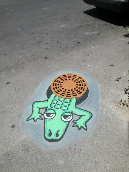 طراحی خلاقانه نقاشی در معابر پر تردد منطقه 13