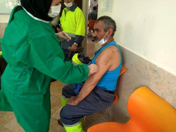 آغاز واکسینه شدن پاکبانان جنوب پایتخت