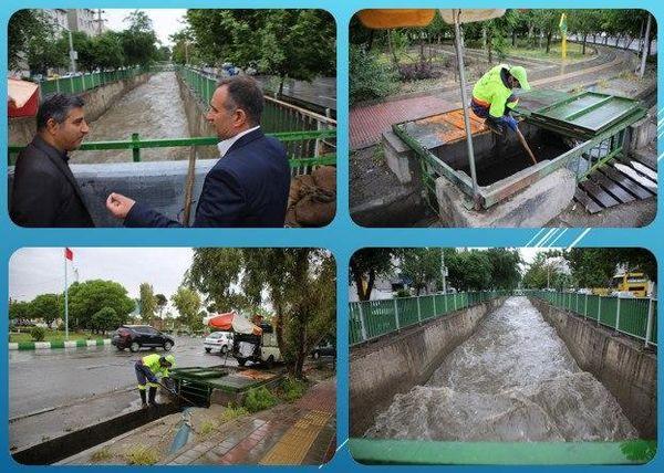 مدیریت کامل باران بهاری در منطقه 15