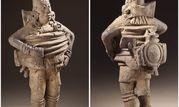 مجسمه باستانی با لباس فضانوردان امروزی+عکس
