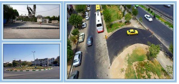 روانی ترافیک در منطقه 15با اجرای اصلاح هندسی معابر پر تردد