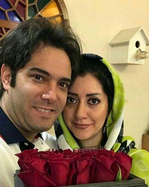 امیرعلی نبویان و همسرش در یک نمایش + عکس