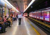 نصب برچسبهای هشداری گپ سکوهای مسافری در خطوط هفتگانه متروی تهران حومه