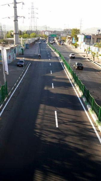 ۴۶ هزار متر خط کشی محوری در خیابانها و معابر منطقه۱۳